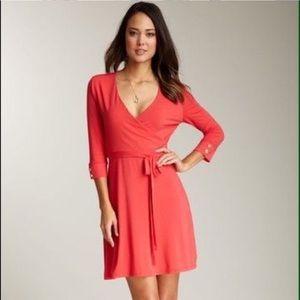 MOTT50 red faux wrap dress/ S